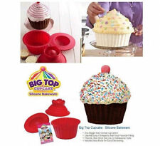 3 Pack Giant Big Silicone Cupcake Cake Mould Top Cupcake Bake Set Baking Mold UR
