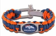 NFL Denver Broncos 550 Para-cord Jewelry Football Bracelet