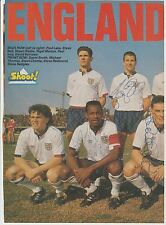 ENGLAND U21'S 1988 ORIGINAL HAND SIGNED LARGE MAG TEAM GROUP WITH 9 X SIGNATURES