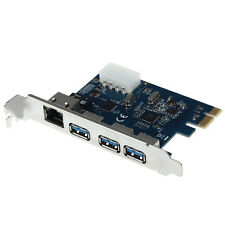 GIGABIT ETHERNET LAN 3 PORT USB 3.0 TO PCI-E CARD PC ADAPTER CONVERTER FOR PC