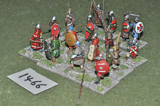 25mm el cid' warriors 16 infantry (1466) painted metal