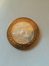 $10 LIMITED EDITION FLAMINGO HILTON CASINO .999 FINE SILVER GAMING TOKEN
