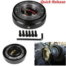 Universal Black Quick Release Kit Racing Steering Wheel 6 Hole Bolt Ball Bearing