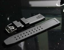Black 23mm Rubber Silicone Watch Band Strap Bracelet For Luminox Men Watch