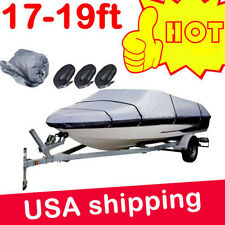 17 18 19 ft Trailerable Fishing Ski Bass Boat Cover Waterproof 95'' Beam gray HP