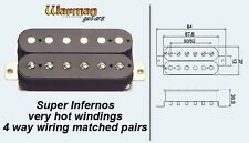 Par emparejado Hot Overwound Warman Inferno Humbuckers - 4 Way Cableado