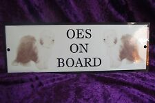 Old English Sheepdog On Board Car Sign