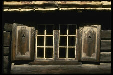 219048 Old fashioned Country style Windows And Shutters A4 Photo Print