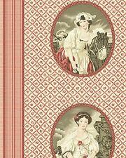 Algodón Colchas de retazos de tela-en el Manor Cameo Rojo - 1 Metro