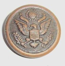 "Vintage WWII Great Seal Eagle COAT BUTTON 9/16"" diameter RL MFG CO Newark, NJ"
