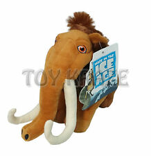 "ICE AGE PLUSH! MEDIUM MANNY MAMMOTH BROWN SOFT DOLL TOY 9"" NWT"