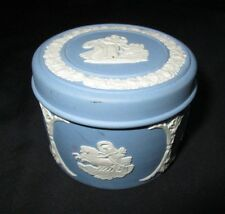 Wedgwood - Blue Jasperware -  trinket box and Cover - vgc