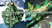 100% pure natural mulberry silk chiffon fabric Plant flowers 1meter X244