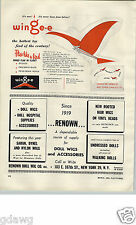 1955 PAPER AD Wingee Toy Kite Airplkane Plane Wings Flap Mylar Orthopter Play