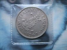 New Zealand 1949 King George VI Royal Visit Silver Fern Crown in good grade