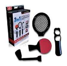 Sports Pack 3 in 1 Tennis Racket Golf Club Ping Pong for Playstation 3 PS3 Move