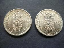1966 ENGLISH AND SCOTTISH SHILLING COINS EXTREMELY FINE CONDITION COPPER NICKEL.