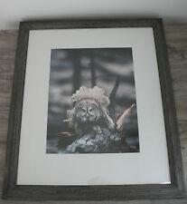 Great Horned Owl Signed by Tom Murphy Fine Art Photography Framed Photograph