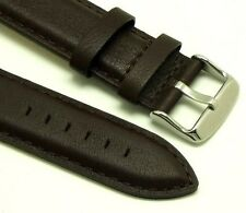 22mm Dark Brown Leather Men's Replacement Watch Strap - Tommy Hilfiger 22