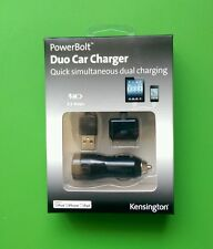 (NEW) Kensington K33497US PowerBolt DuoCar Charger 3.1 AMPS for iPod iPhone iPad