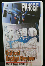 1 RARE VHS VIDEO, F/A-18E/F CRITICAL DESIGN REVIEW HORNET INDUSTRY TEAM, F18