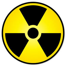 "Nuclear Radiation Warning sign sticker decal 4"" x 4"""