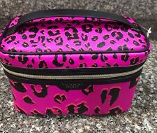 Victoria's Secret Cheetah Cosmetic Case Bag Set Make Up Pink Travel Beauty