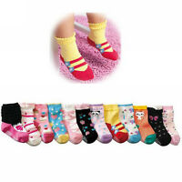 1Pair Soft New Baby Kids Cotton Socks Toddler Anti-Slip Shoe for 1-3 Years Old