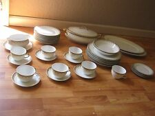 Vintage 35 pcs TK Thuny Czechoslovakia Soup Bowl Gravy Boat Platter Dishes Set