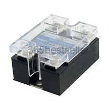 DC to DC Single Phase Solid State Relay SSR 25A 3-32V 5-220V w Transparent Cover