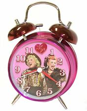 NEW I LOVE LUCY TWIN BELL ALARM CLOCK BATTERY ETHEL METAL CASE