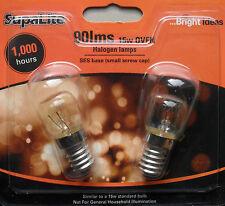 Oven Bulb Lamp 300 deg Halogen  SES base 15w 240V Pack 2 by Supalite