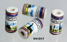 Ceramic  BEADS from Peru  for.HAIR & CRAFTS        01017 TUBE X 10 BEADS
