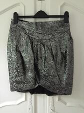 ISABEL MARANT for H&M Silver Grey Brocade Skirt UK 12 14 BNWT COLLECTORS