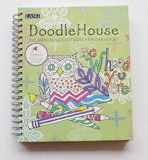 "Lang ""Doodle House"" Coloring Book ~ BONUS Colored Pencils **FREE SHIPPING**"