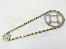 Heavy Duty Chain & Sprockets Set GOLD to fit Zontes Tiger ZT125-3A