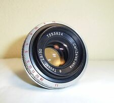 Rarity For Werra Carl Zeiss Jena Tessar 2.8/50 q1 TOP Conditions with Lens Hood!