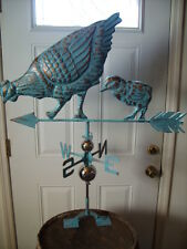 Chicken Chic Weathervane Hand Crafted Not Rooster Weather Vane Detailed
