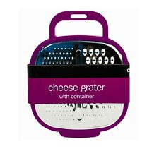 Purple Kitchen Cheese Grater with Container and Grip Handle 4 Colours Available