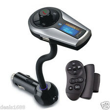 Steering Wheel Car Kit FM Transmitter LCD MP3 Player Wireless Bluetooth USB SD