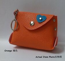Coin Purse Key Chain  -Fruity Color Coin Purse (Orange)_Free Shipping