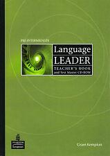 Pearson LANGUAGE LEADER Pre-Intermediate Teacher's Book w Test Master CD-ROM New