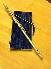 Elkhart Flute E. L. DEFORD complete with case and cleaning rod