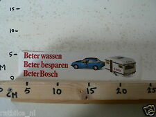 STICKER,DECAL BOSCH CAR WITH CARAVAN BETER WASSEN,BETER BOSCH NOT 100 % OK IS DA