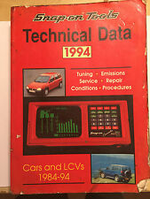 SNAP-ON AUTODATA TECHNICAL DATA PETROL ENGINED VEHICLES PORSCHE VW MAZDA 1984-94