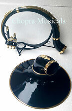 Sousaphone Black & Brass Colored Bb 3 Valve 100% Brass+Bag M/Piece Fast Ship