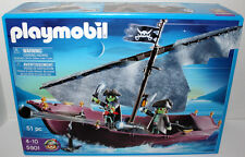 PLAYMOBIL #5901 GHOST SHIP DINGY PLAY SET W/2 GLOW PIRATE FIGURES 51 pcs MIB