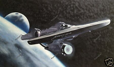 Star Trek Oil Painting Enterprise Space Ship Hand-Painted Art Canvas NOT Print