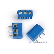 5 x DG301 Screw Terminal Block 3 Positions 5mm - USA Seller - Free Shipping