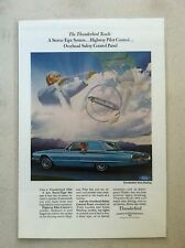 1966 FORD Thunderbird Town Hardtop LAMINATED AD ART